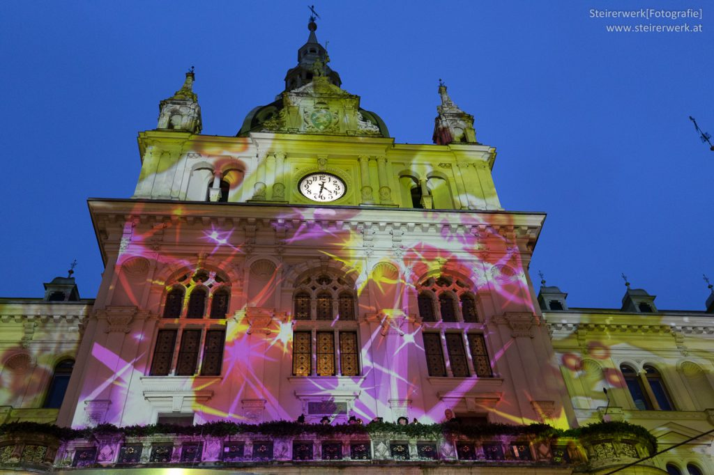 Adventkalender Lichter am Rathaus Graz