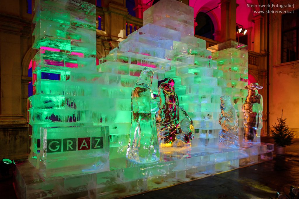 Eiskrippe Graz Seitenansicht