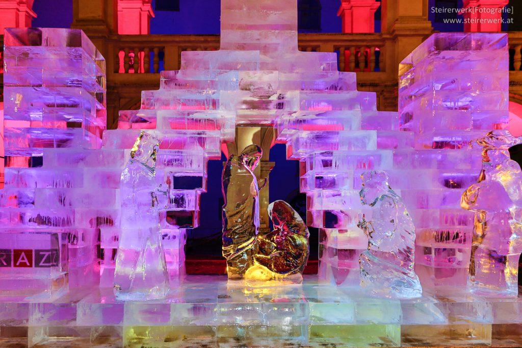 Eiskunstwerk in Graz