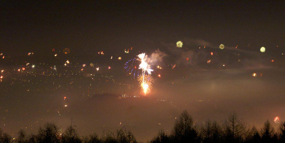 Silvesterfeuerwerk in Graz