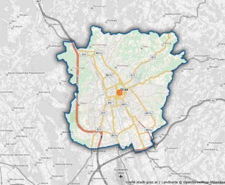 Graz Stadtplan mit Adressen-Suche
