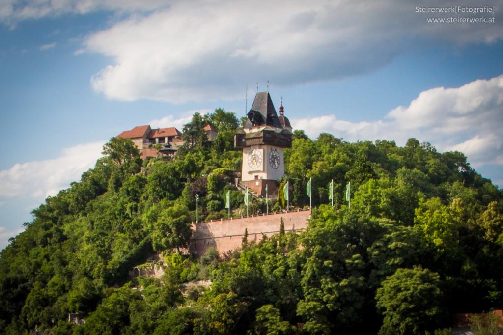 Uhrturm Schlossberg Rathaus