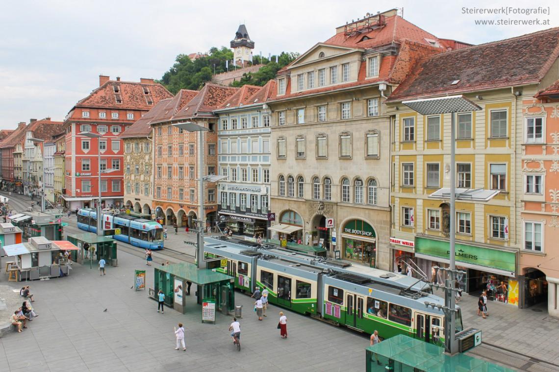 Straßenbahn – Bus – Altstadt Bim in Graz