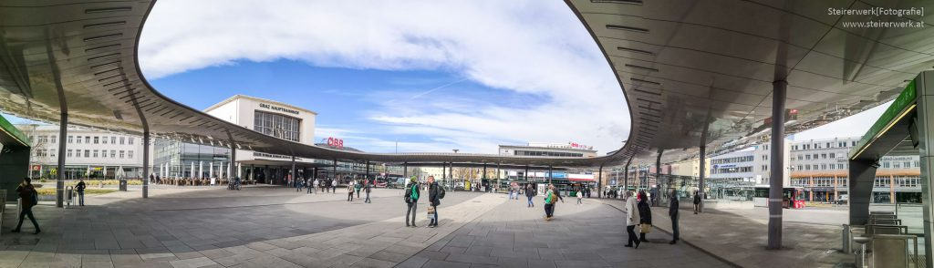 Verkehrsknotenpunkt Graz Hauptbahnhof