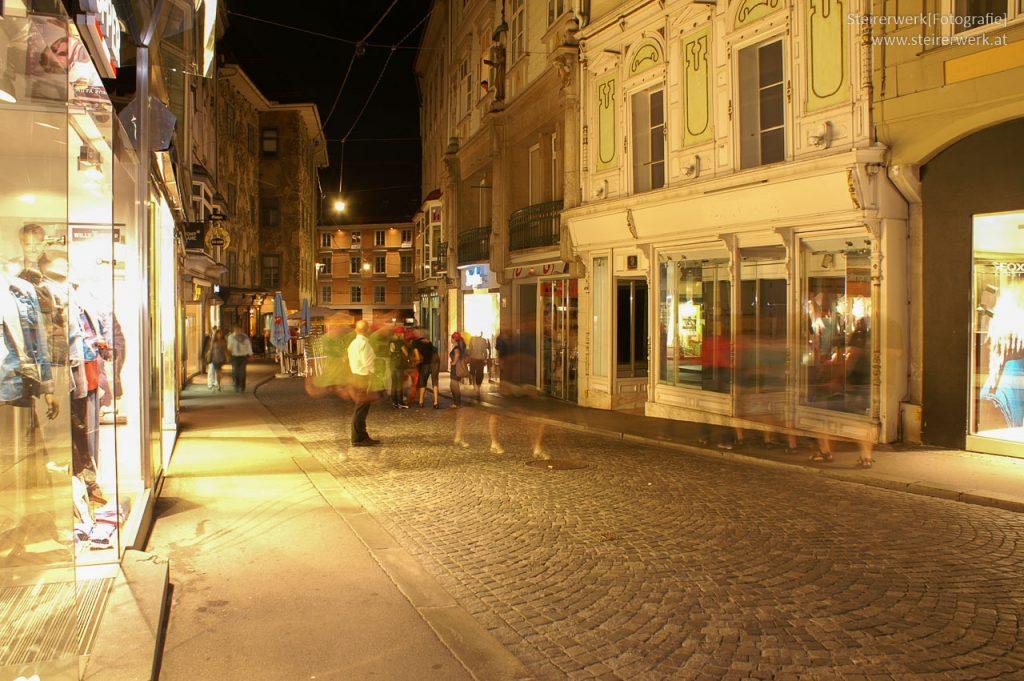 Abend Rundgang in Graz