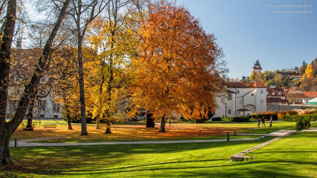 Burggarten im Herbst Graz