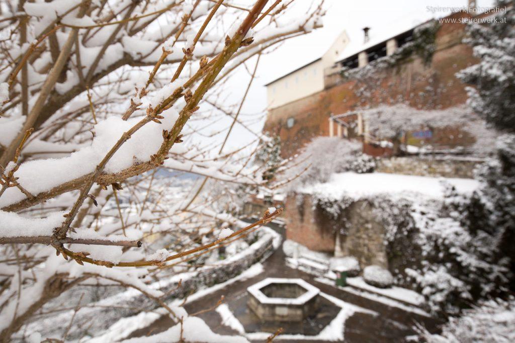 Schneespaziergang am Schloßberg