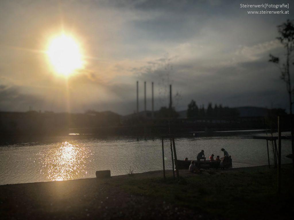 Sonnenuntergang Bootsfahrt Graz